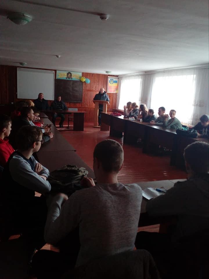 Зустріч учнів 26 групи та студентів 13 тм групи з учасниками Афганської війни Левковецем Василем та Бондарем Ігорем